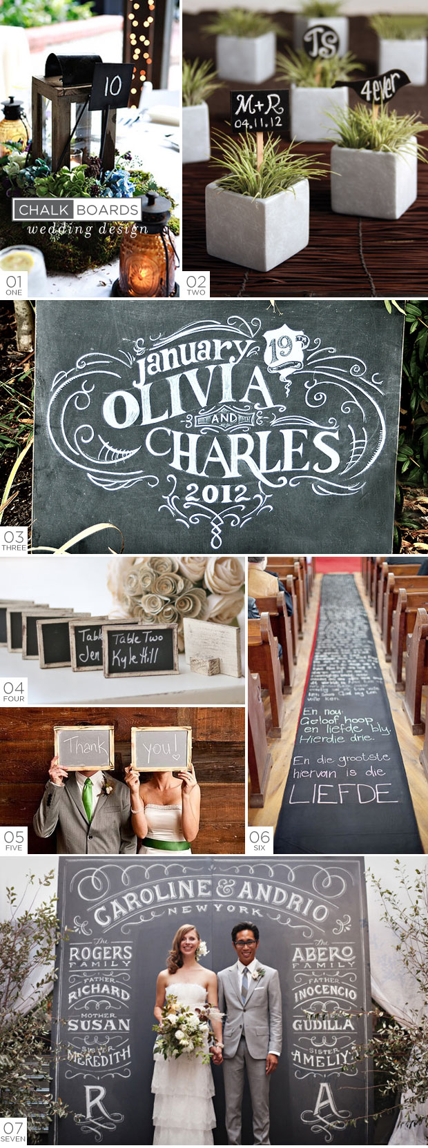 Chalkboards - Wedding Design